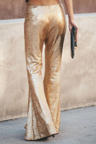 Gold Pailletten Bell Bottom Fashion Pants