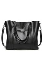 Schwarze Multifunktions-PU-Handtasche