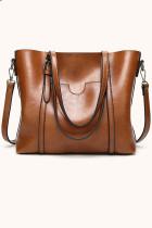 Braune Multifunktions-PU-Handtasche
