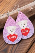 Potka Dog Love Shining Valentinstag Ohrringe