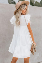 Vit Pocket Tiered Ruffled Mini Dress