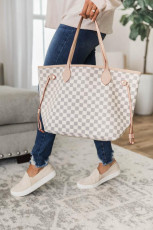 Plaid Print Tote Bag
