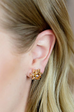 Golden Christmas Delicate Stud Earrings