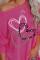 Szívmintás pulóver hosszú ujjú felső