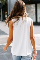 เสื้อกล้ามคอวีสีขาว Surplice