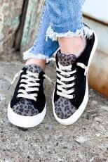 Sepatu Casual Black Leopard Patchwork