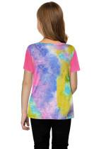 Camiseta con efecto tie-dye de Rose Twisted para niñas
