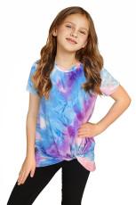 เสื้อยืดเด็กหญิงลาย Twisted Tie-dye Little Girls