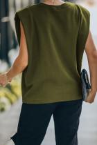 Camiseta sin mangas musculosa acolchada verde