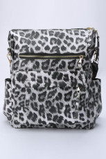 Gray Leopard Travel Backpack