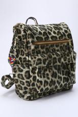 กระเป๋าเป้เดินทางสีกากีเสือดาว