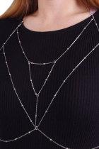Silvery Bra Harness Body Chain Schmuck