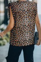 Leopard Padded Muscle Tee