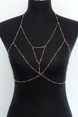 Golden Bra Harness Body Chain Schmuck
