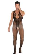 Mesh urholkad genomskinlig genomskinlig jumpsuit bodystockings
