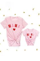 Różowa dopasowana koszulka dziewczęca MINI