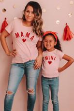 Dziewczęca koszulka MINI z nadrukiem literowym