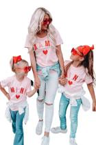 핑크 MAMA 매칭 티셔츠