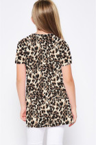 Leopard Print Twist Girls Tee