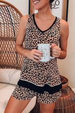 Leopardlinne och shorts Lounge Set