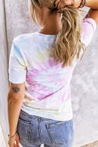 DIRE SI ALL'AVVENTURA T-shirt con stampa tie-dye