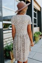 Jurk in babydoll-stijl met luipaardprint