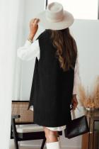 블랙 니트 조끼 풀오버 스웨터