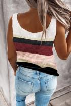 컬러 블록 니트 스웨터 조끼