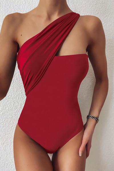 Rød badetøj i ét stykke