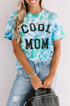 Голубая футболка COOL MOM Tie Dye