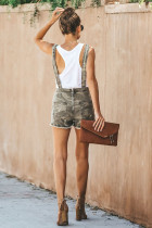 Groene Captain Cotton Camo Overall Shorts