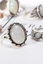 8 STUKS Vintage Boheemse Opal Knuckle Rings Set