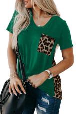 تی شرت تقسیم شده پلنگ سبز