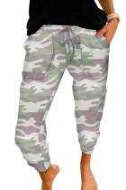 Grijze camouflage casual sportbroek