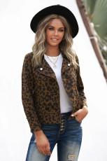 Jachetă bomber cu imprimeu leopard baroc