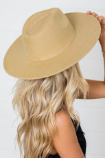 Шляпа цвета хаки с широкими полями