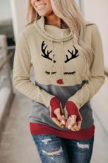 Худи с рождественским принтом и отверстием для большого пальца