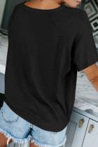 Raglan ermet T-skjorte med rund hals