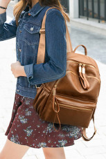 Backpack Çermîn Brown PU