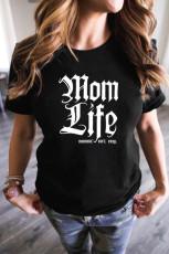 Футболка Mom Life с круглым вырезом
