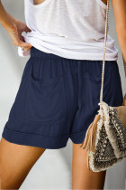 Dusty Blue Strive Pocketed Tencel Shorts