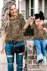 เสื้อยืด Leopard Girls 'Ruffled Sleeves