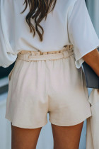 Apricot Cotton Blend Pocketed Knit Shorts