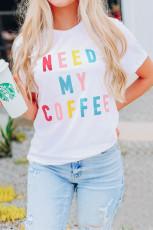 NEED MY COFFEE Футболка с графикой