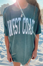WEST COAST Letters Grafisk oversized T-shirt