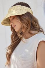 Cappello con visiera parasole in paglia di Panama con protezione a tesa larga Summer Beach