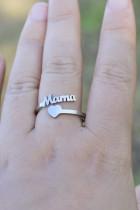 แหวนเงินแม่และหัวใจวินเทจ