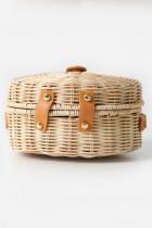 손으로 짠 라운드 등나무 패션 가방