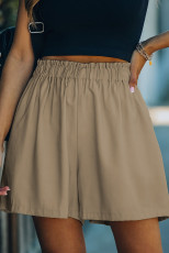 Xaki Cotton Blend Portsed High Rise Shorts