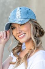 Street Hipster Himmelblå hatt
